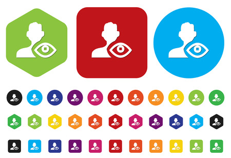 eye icon  contact Vector