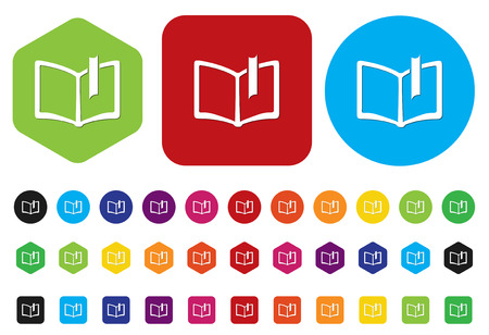 e-book icons on white background Vector