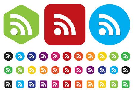 interface menu tool: Pulsante Web con feed RSS segno Vettoriali