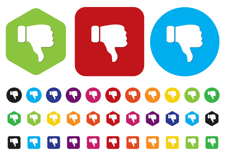 Dislike (thumbs down icon)