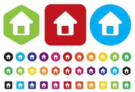 button home symbol sign Vector