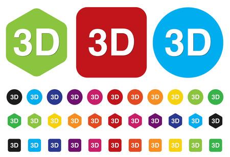 stereoscope: 3d button or icon