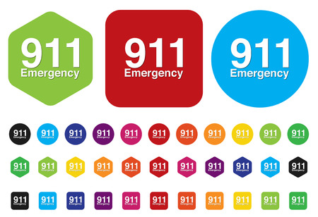 911 emergency button Vector