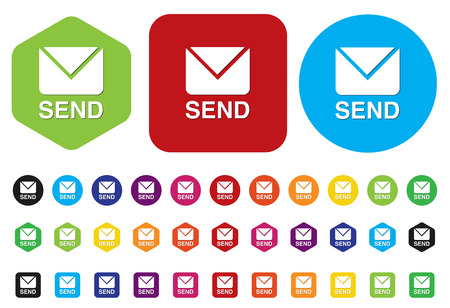 send mail button Vector