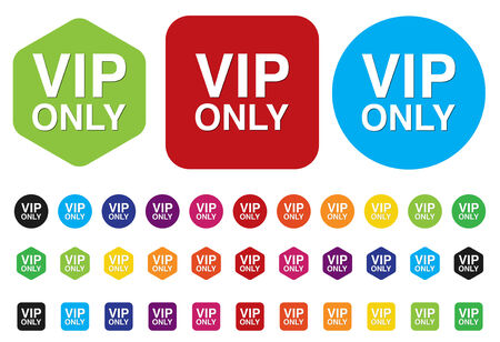 prestige: button with the inscription vip only