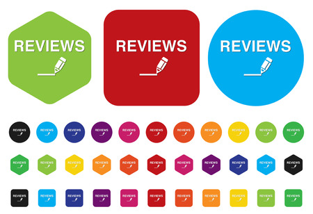 Reviews Button Vector
