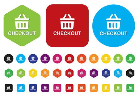 checkout button Illustration