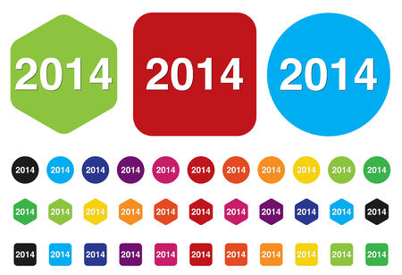 year 2014 icon Stock Vector - 28211246