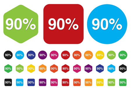 10 key: 90 percent icon