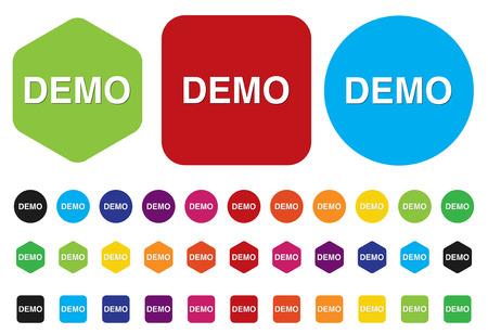 demo icon Stock Vector - 28211079