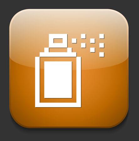 compressed air: Spray can symbol Illustration