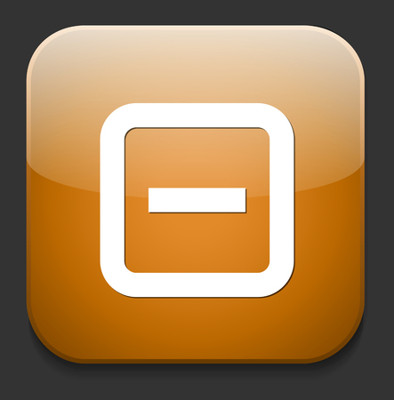 regular tetragon: Delete button Illustration