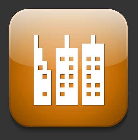 skyscraper icon Stock Vector - 28609266