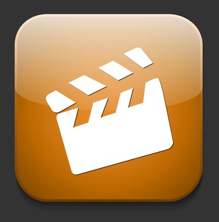movie clapper: icona del film batacchio tasto