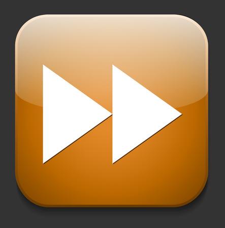 fast-forward button Vector
