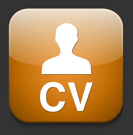 CV icon button Vector