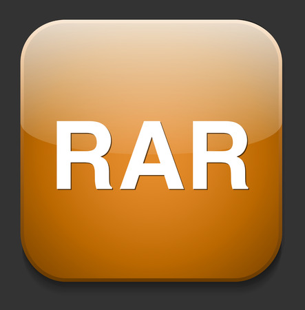 Rar file icon Vector