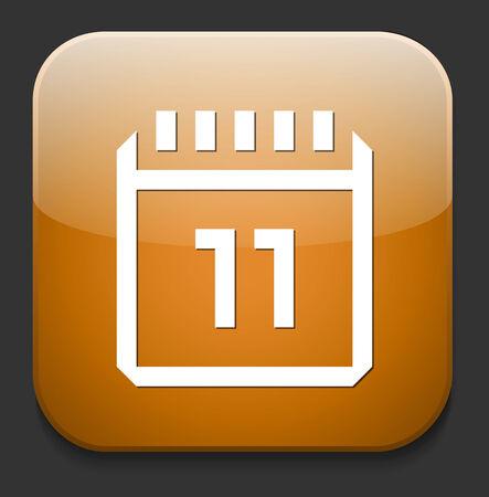 event planning: Calendar icon Illustration
