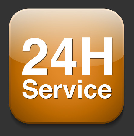 Service and support  24 hours a day and 7 days  Vector