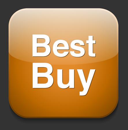 buy button: Best buy button Illustration