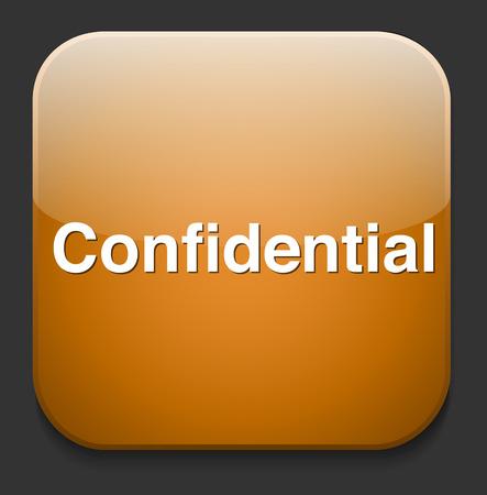 private information: confidential top secret classified private information  button