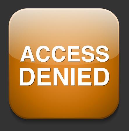 denied: Bot�n concepto de seguridad de acceso denegado