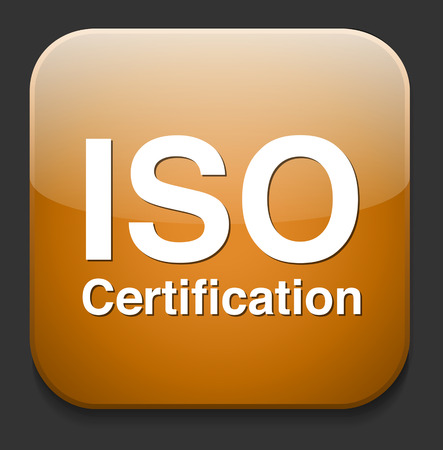 Iso Certification button Vector
