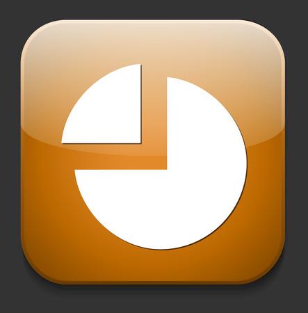 chart pie icon Vector