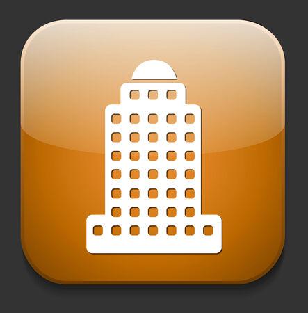 skyscraper icon Stock Vector - 28674007