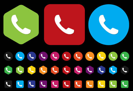 phone button: phone button Illustration