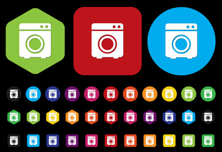 clean off: washer button Illustration