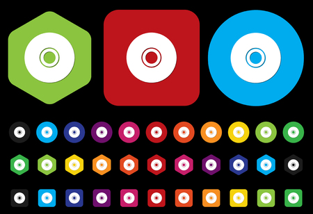 cdr: cd icon Illustration