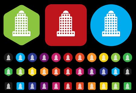 skyscraper icon Stock Vector - 28667073