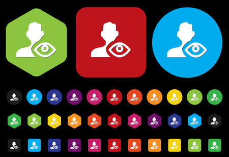 medical record: eye icon  contact