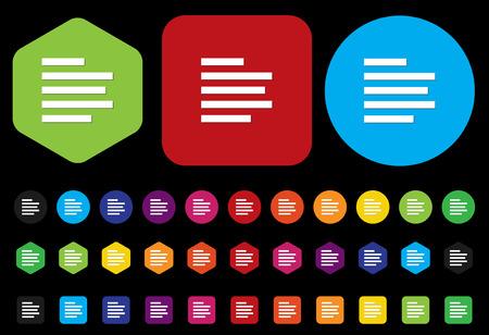 short message service: text button Illustration
