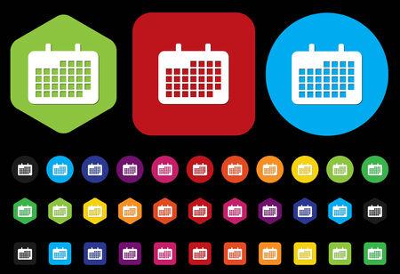 icono de calendario: icono del calendario