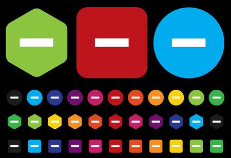 eliminate: minus mark sign on button