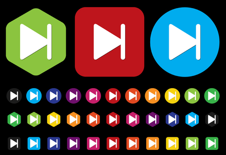 satined: Next Media player button Illustration