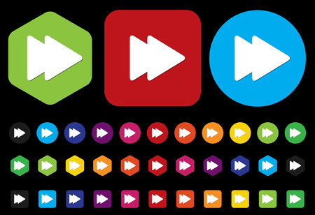 satined: Forward Media player button Illustration