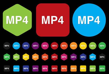mpg: MP4 button Illustration