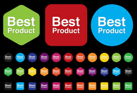 editors: Best Product button Illustration