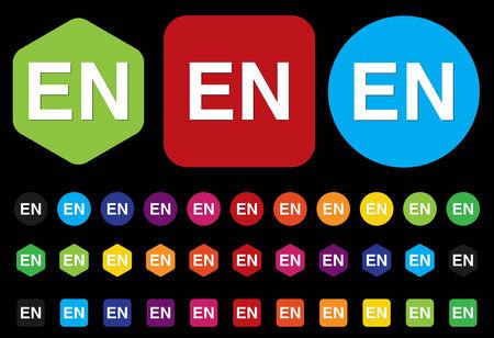 en: English language EN sign icon
