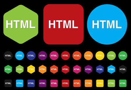 hypertext: HTML sign icon