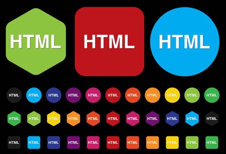 markup: HTML sign icon
