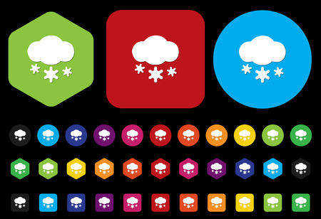 weather icon  button Vector