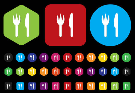 knife and fork button