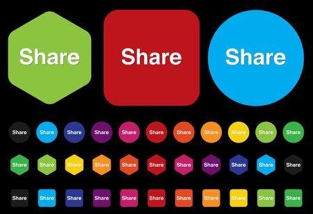 regular tetragon: Share icon