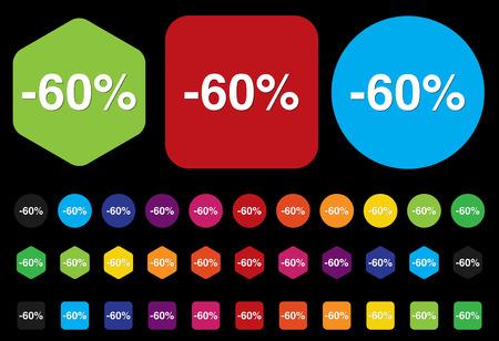 boton on off: Bot�n 60 por ciento de descuento