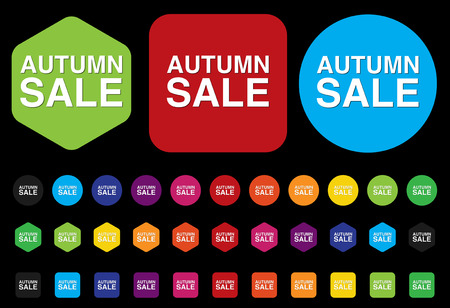 Autumn sale button Vector