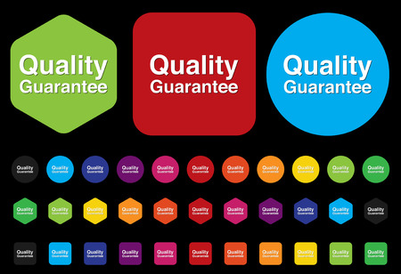 quality guarantee button Vector